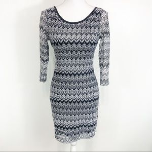 Ya Los Angels Scoop Back Long Sleeve Dress Medium
